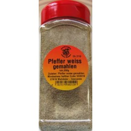 Pfeffer weiß gemahlen 250 g DS
